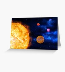 Consumption of Planets by Supernova Greeting Card