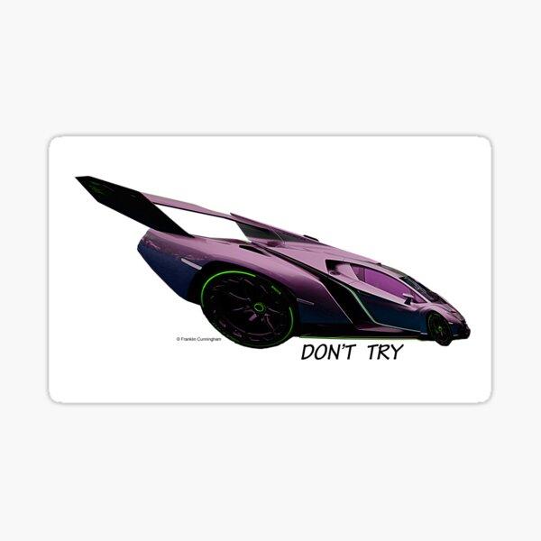 Imaginative Extreme Cars Art Sticker