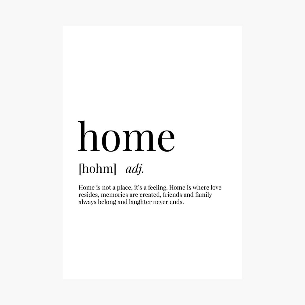 Poster « Définition du domicile », par definingprints  Redbubble