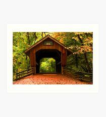 Covered Bridge,Little Hope Wisconsin  Art Print