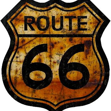 ROUTE 66 SIGN  RUST by tomb42