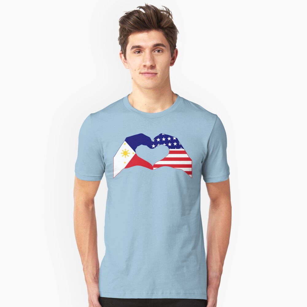 We Heart Philippines & U.S.A. Patriot Flag Series Slim Fit T-Shirt