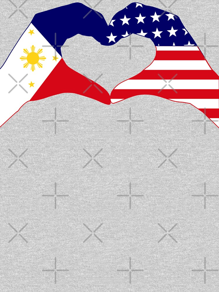 We Heart Philippines & U.S.A. Patriot Flag Series by carbonfibreme