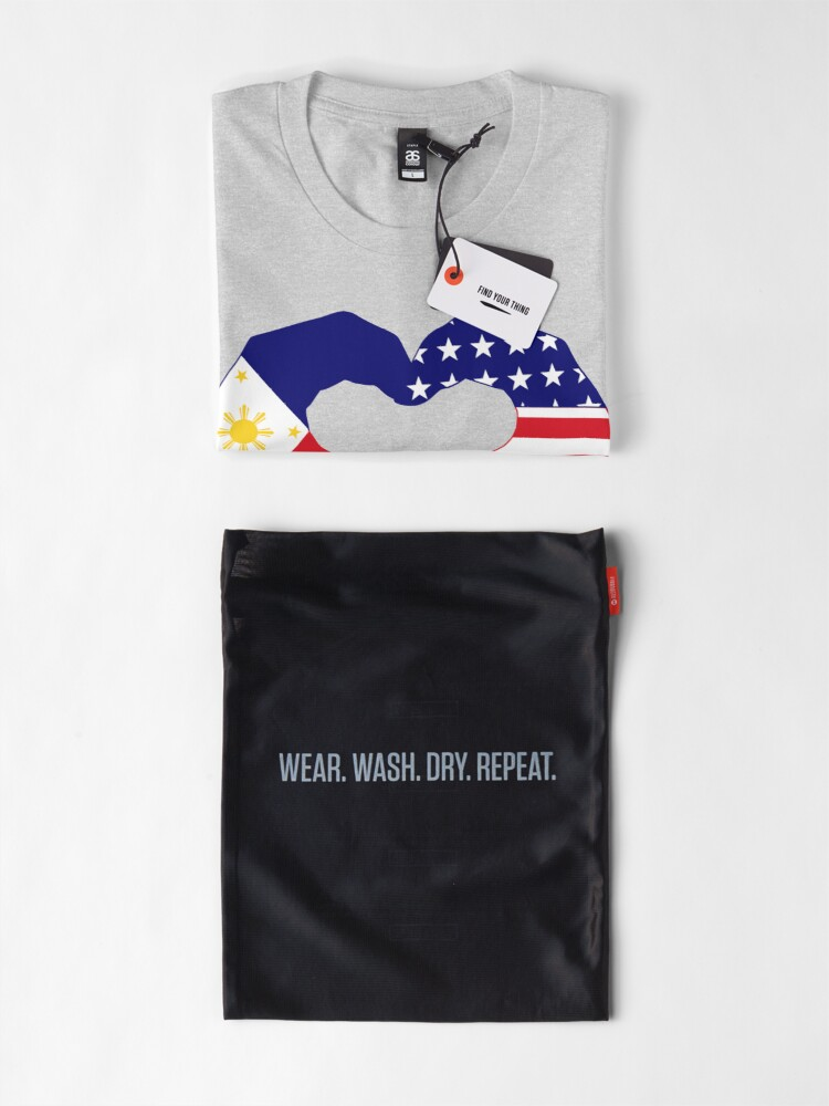 Alternate view of We Heart Philippines & U.S.A. Patriot Flag Series Premium T-Shirt