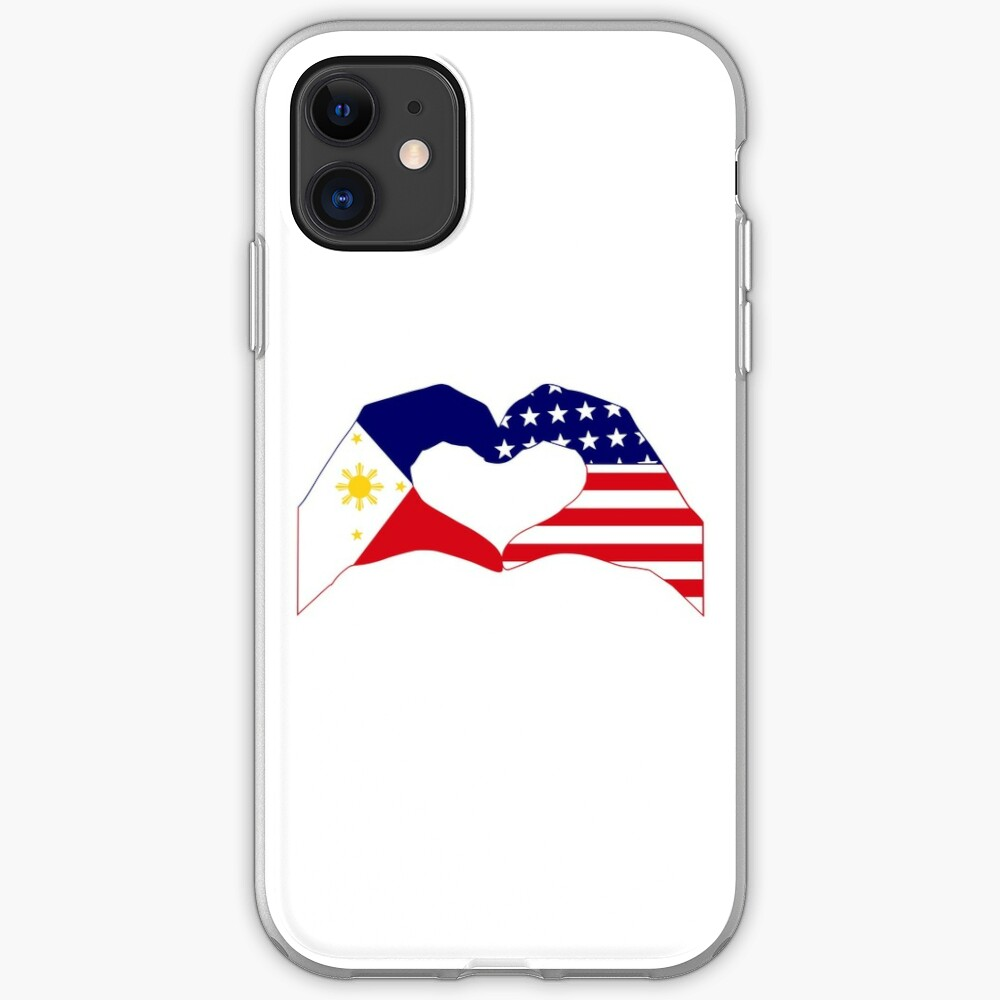 We Heart Philippines & U.S.A. Patriot Flag Series iPhone Case & Cover