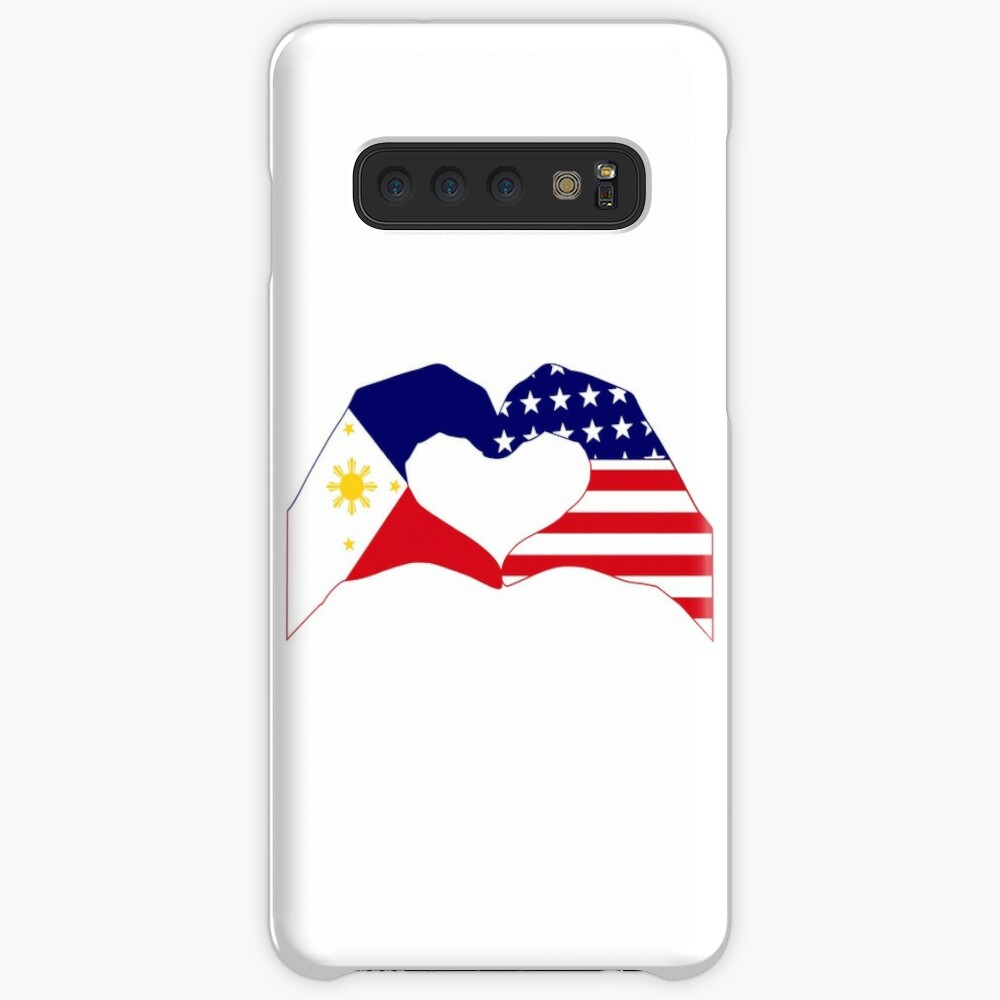 We Heart Philippines & U.S.A. Patriot Flag Series Case & Skin for Samsung Galaxy