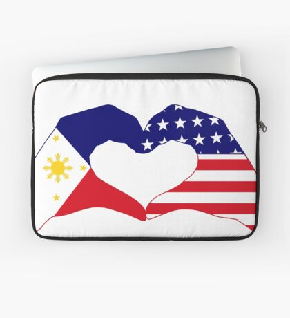 We Heart Philippines & U.S.A. Patriot Flag Series Laptop Sleeve