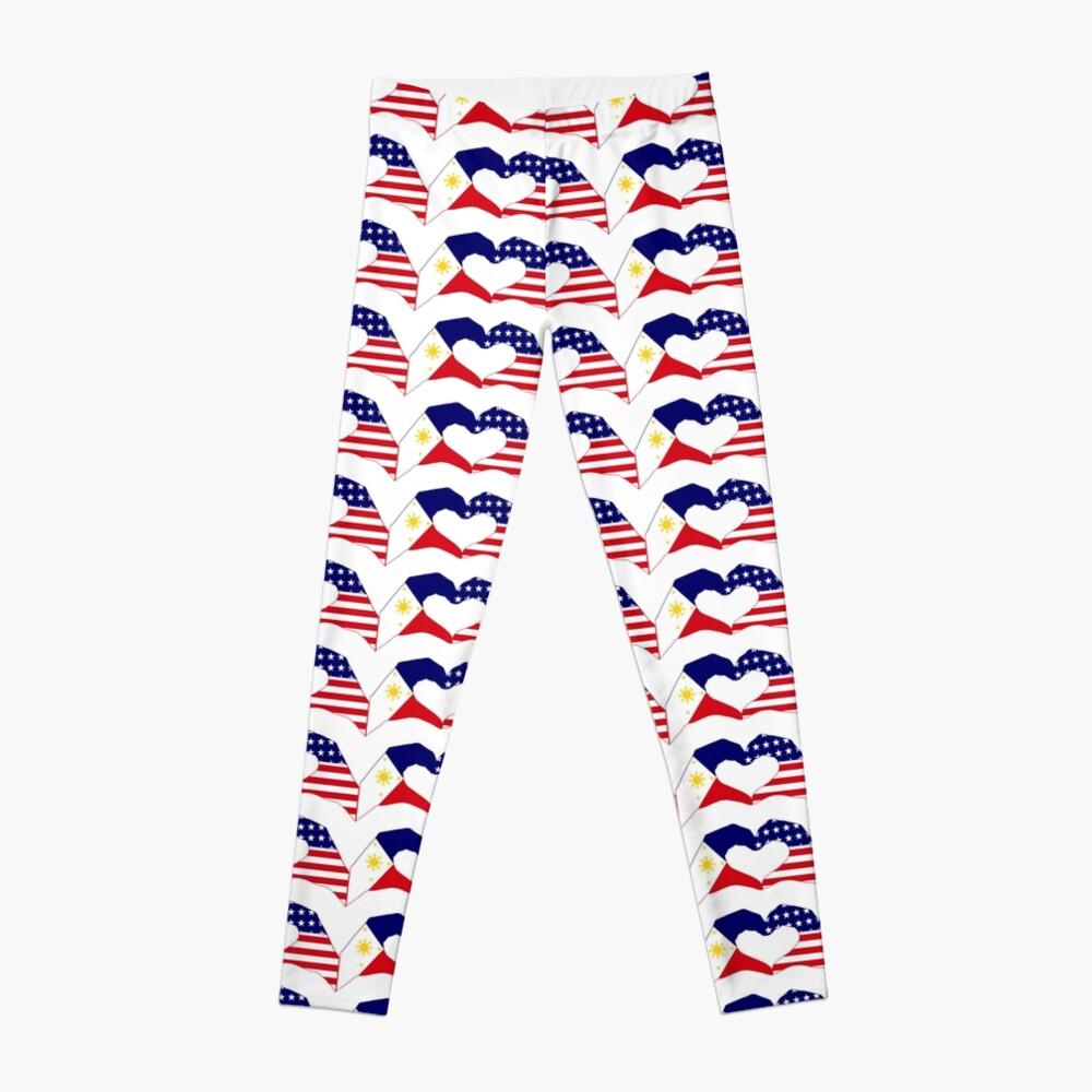 We Heart Philippines & U.S.A. Patriot Flag Series Leggings
