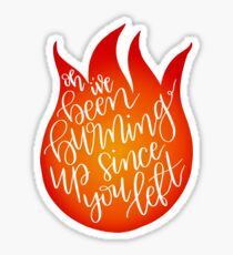 burning Sticker