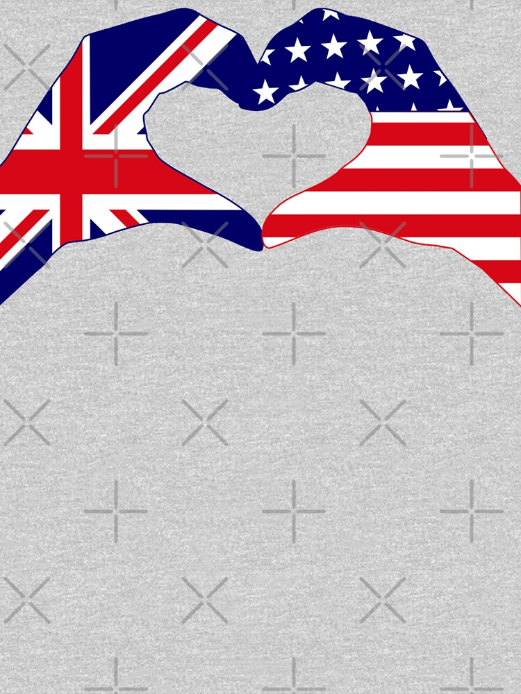 We Heart UK & USA Patriot Flag Series by carbonfibreme