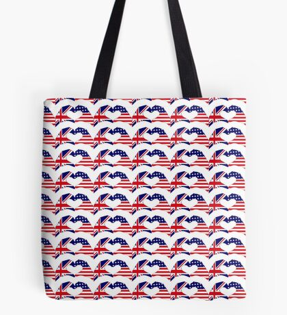 We Heart UK & USA Patriot Flag Series Tote Bag