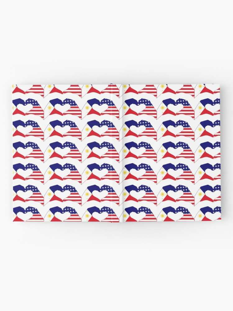 Alternate view of We Heart Philippines & U.S.A. Patriot Flag Series Hardcover Journal