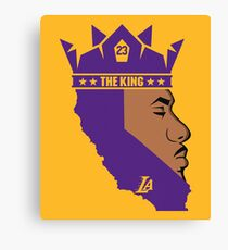 Lebron James The King Lakers T-Shirt Canvas Print