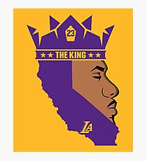 Lebron James The King Lakers T-Shirt Photographic Print