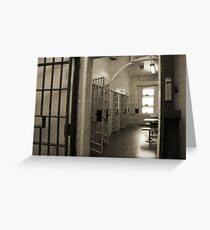 Protective Custody, Cell Block 3, Cornwall Jail Greeting Card