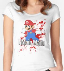 I Main Mario - Super Smash Bros. Women's Fitted Scoop T-Shirt