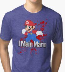 I Main Mario - Super Smash Bros. Tri-blend T-Shirt