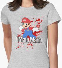 I Main Mario - Super Smash Bros. Womens Fitted T-Shirt