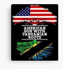 American Son With Tanzanian Roots - Gift For Tanzanian Son Canvas Print
