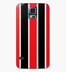 Red White and Black-Striped Case/Skin for Samsung Galaxy