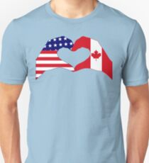 We Heart USA & Canada Patriot Flag Series Slim Fit T-Shirt