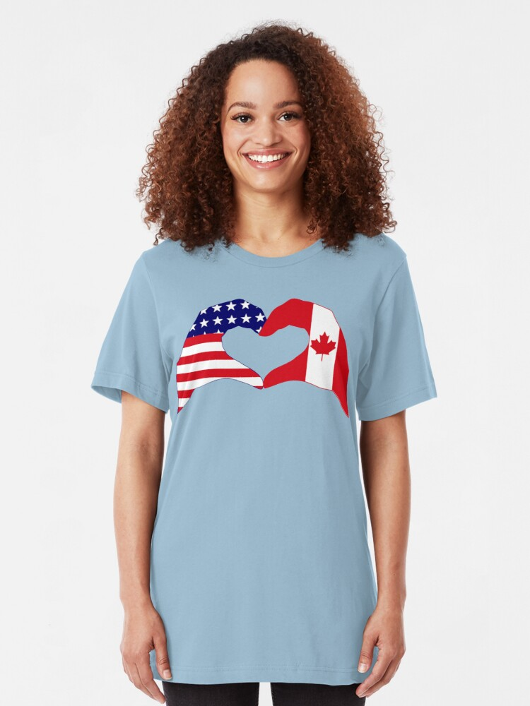 Alternate view of We Heart USA & Canada Patriot Flag Series Slim Fit T-Shirt