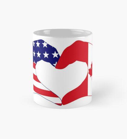 We Heart USA & Canada Patriot Flag Series Mug