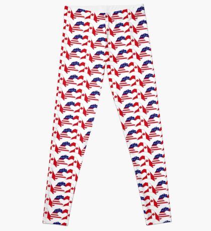 We Heart USA & Canada Patriot Flag Series Leggings