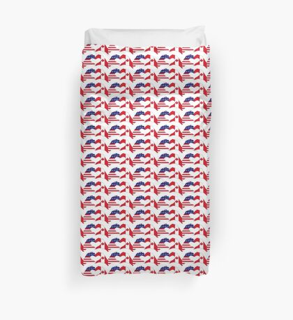 We Heart USA & Canada Patriot Flag Series Duvet Cover