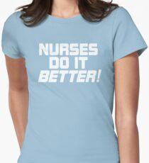 Nurses Do It Better T Shirt Robert Plant  Women's Fitted T-Shirt