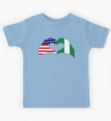 We Heart USA & Nigeria Patriot Flag Series Kids Clothes