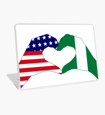 We Heart USA & Nigeria Patriot Flag Series Laptop Skin