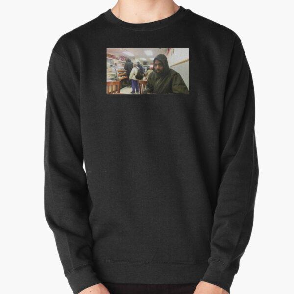 MC Ride sat at Subway Pullover Sweatshirt