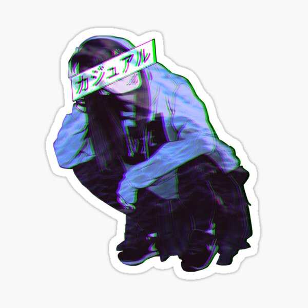 COMFORTABLE - SAD JAPANESE ANIME AESTHETIC Sticker