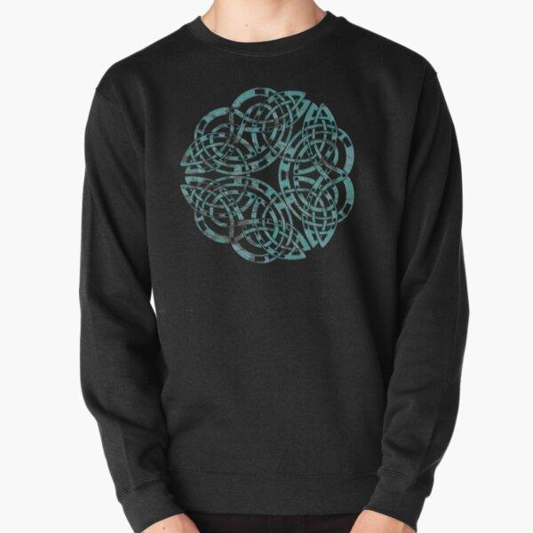 Distressed Metal Celtic Design Pullover Sweatshirt