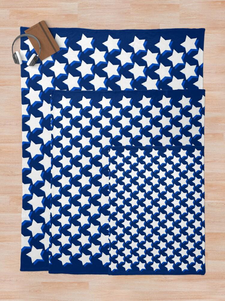 Alternate view of Stars On Blue Throw Blanket