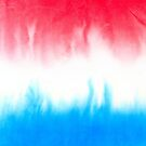 Red White and Blue Flowing Watercolors by ArtVixen