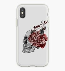 Floral Skull - Anatomical Summer Flowers iPhone Case