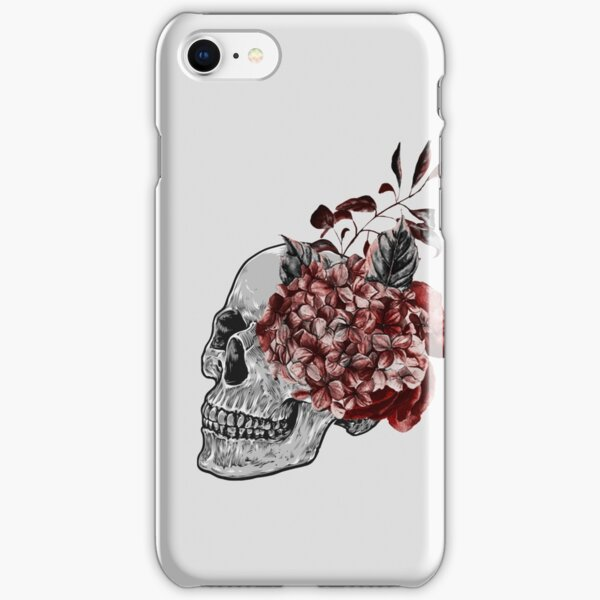 Floral Skull - Anatomical Summer Flowers iPhone Snap Case