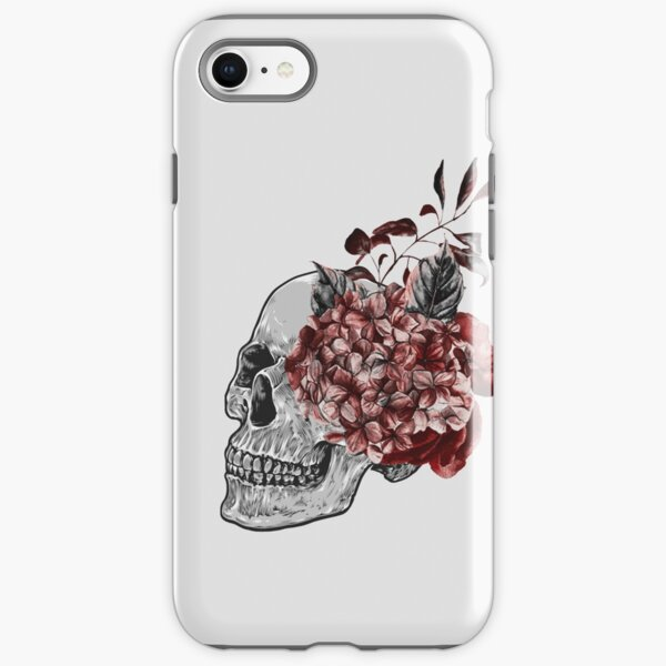 Floral Skull - Anatomical Summer Flowers iPhone Tough Case