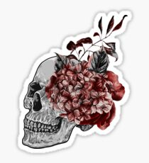 Floral Skull - Anatomical Summer Flowers Sticker