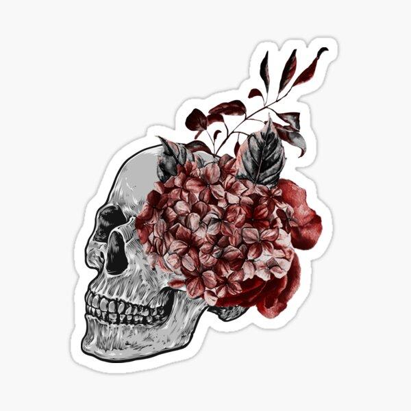 Floral Skull - Anatomical Summer Flowers Sticker