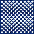 Stars On Blue by LaRoach