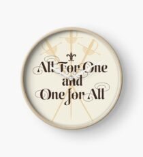 The Three Musketeers Motto Clock