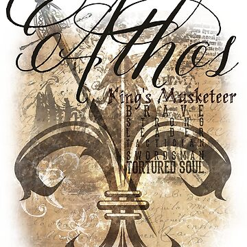 Athos - King's Musketeer grunge style by burketeer