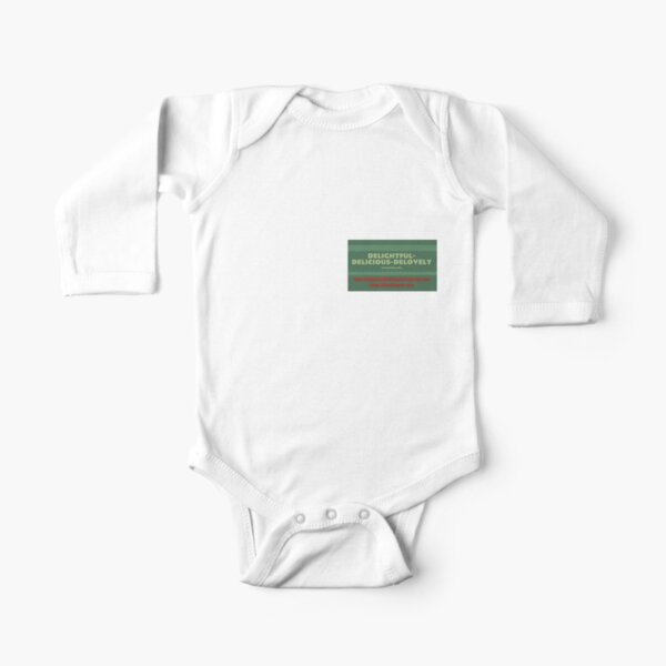 Delightful Delicious Delovely Long Sleeve Baby One-Piece