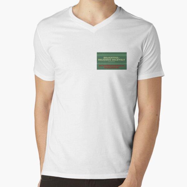 Delightful Delicious Delovely V-Neck T-Shirt