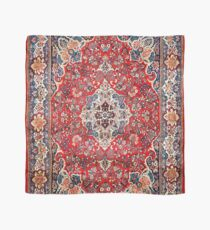 Red Blue Sarouk Persian Carpet Scarf