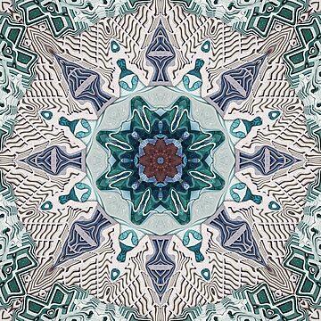 Green And Blue Mandala by perkinsdesigns