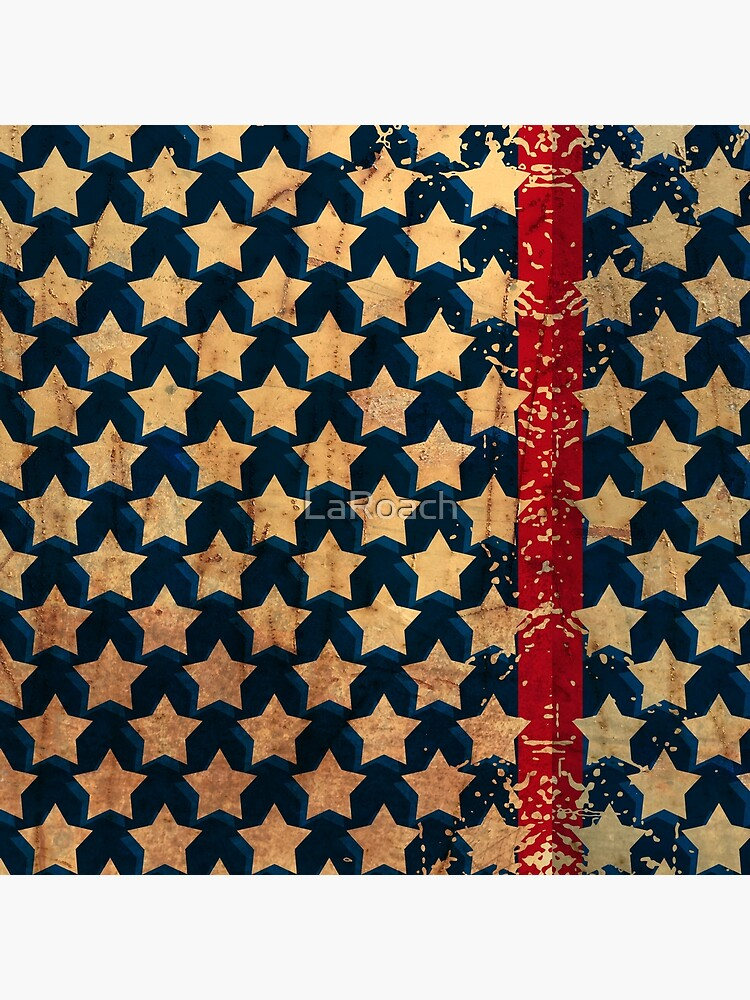 Stars and Stripes Distressed Look by LaRoach